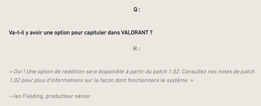 Valorant : FAQ sur l'Abandon