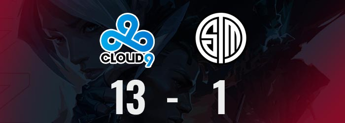Valorant : Cloud 9 met 13 -1 à TSM