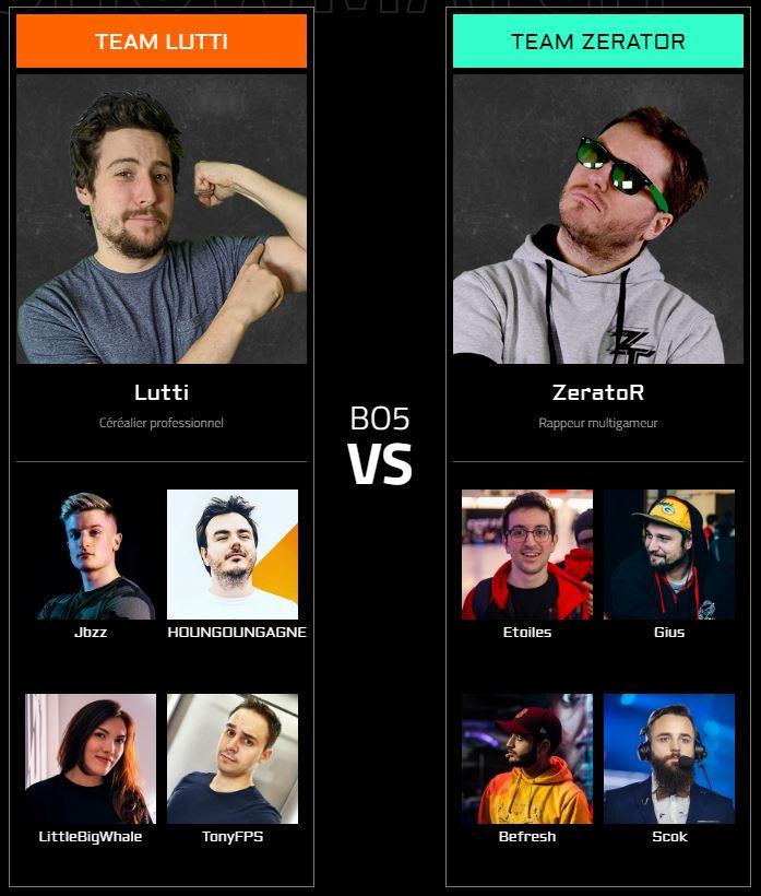 Aorus Xtrem Showdown : Les streamers invités
