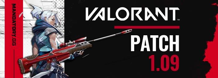 Patch Notes 1.09 de Valorant