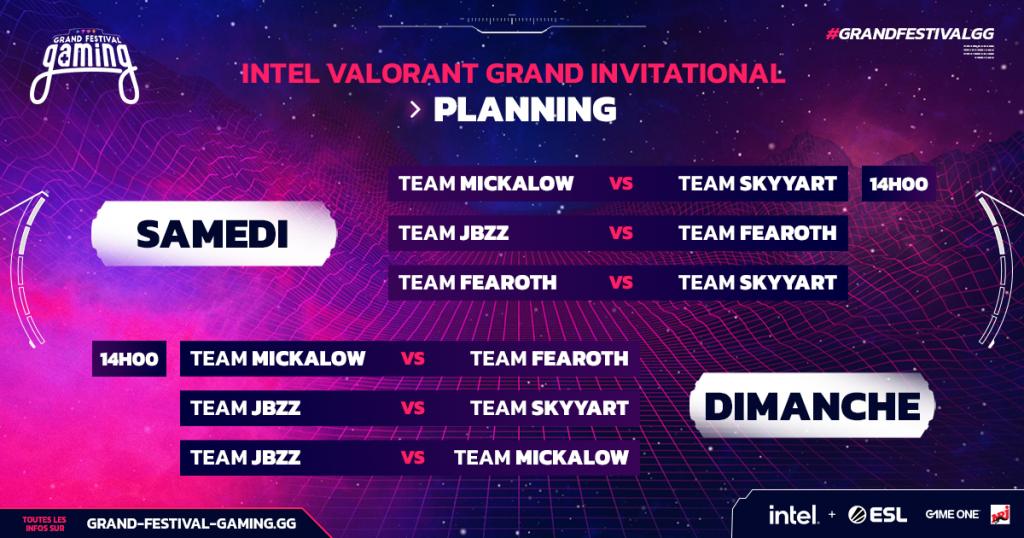 Récap du Valorant Grand Invitational by INTEL - Jour 1 - valorant esport grand festival intel invitational planing - Mandatory.gg