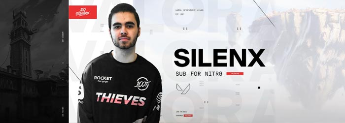 Silenx remplace nitr0 chez 100 Thieves