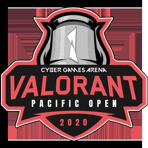 Logo : Cyber Game Arena Valorant Pacific Open 2020