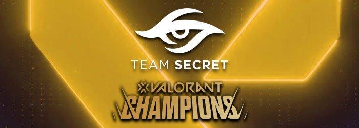 Team Secret est qualifié au Valorant Champions