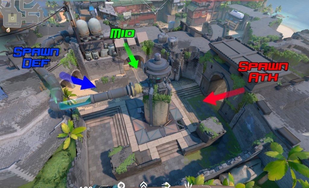 Breeze : la nouvelle map de Valorant - valorant map breeze B point - Mandatory.gg