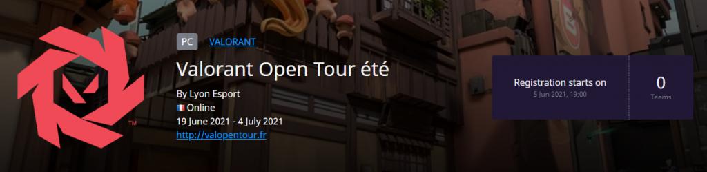 Comment s'inscrire au Valorant Open Tour France - valorant open tour france summer register - Mandatory.gg